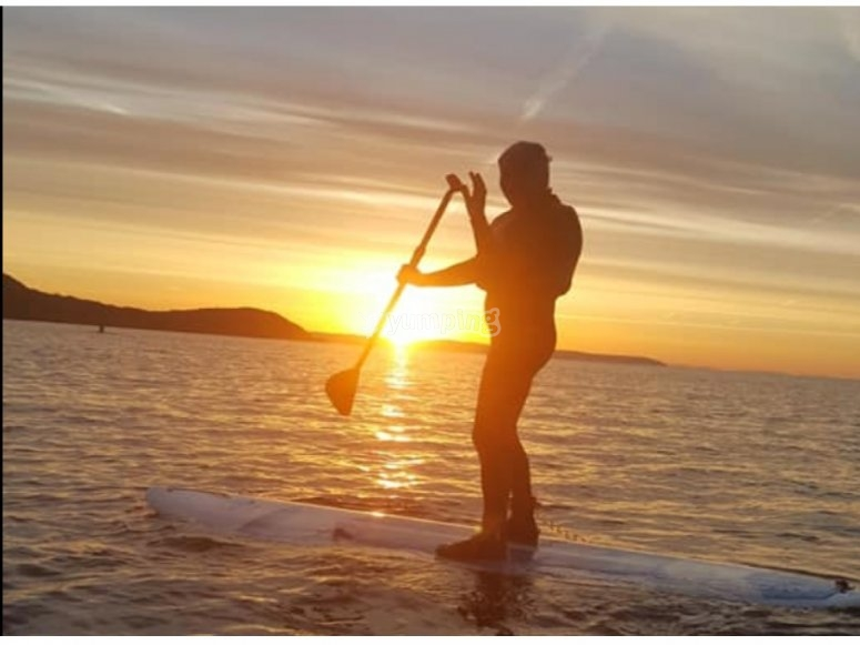 SUP in the sunset