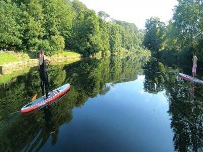 Stand up paddle board lessons in Amble for 2hs:50
