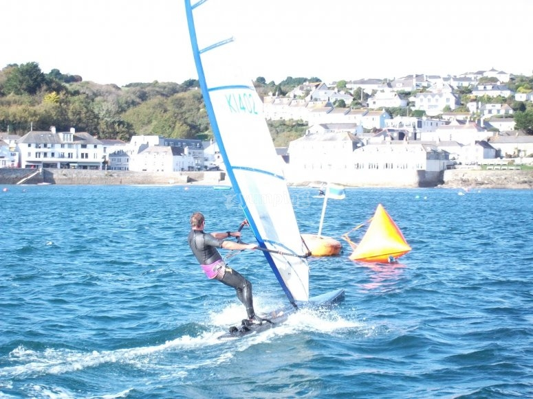 An exquiste day for windsurf