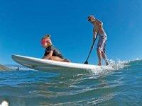 Paddleboarding duo