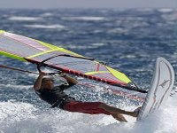 windsurfing in waves