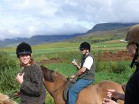 hacking at Stromfirth Riding Stables