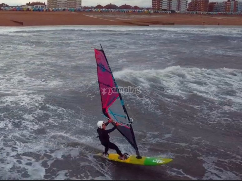 Windsurfing with friends