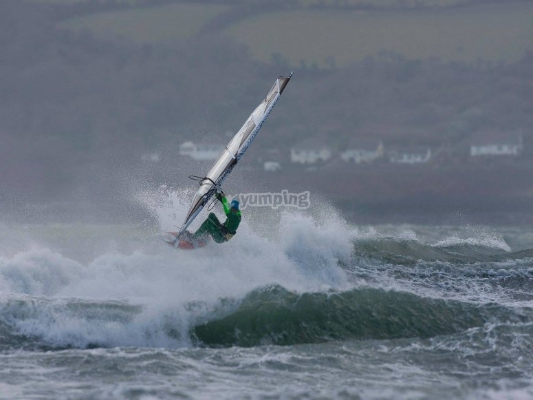 Windsurfing at East Sussex