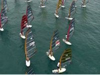windsurfing race