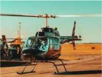 Helicopter ride in Devon