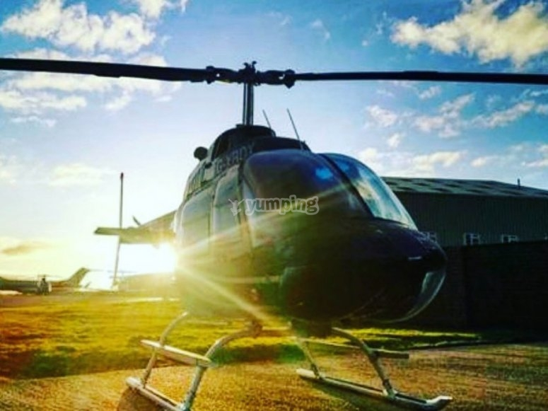 Helicopter ride experience in Devon