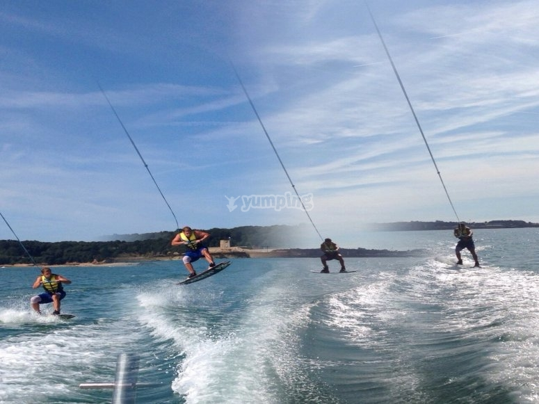 Wakeboarding jumps