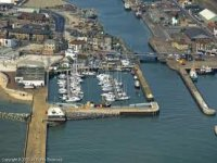The marina is well sheltered and has direct sea access