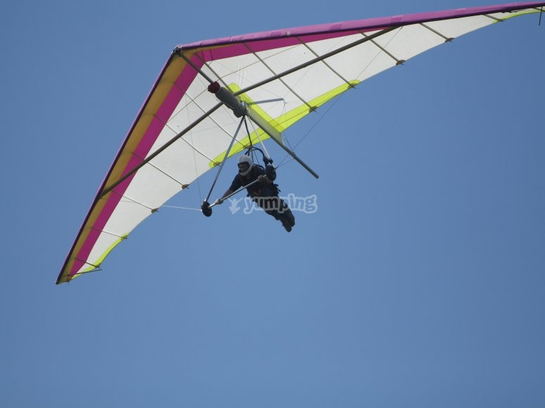 Hang gliding for advanced