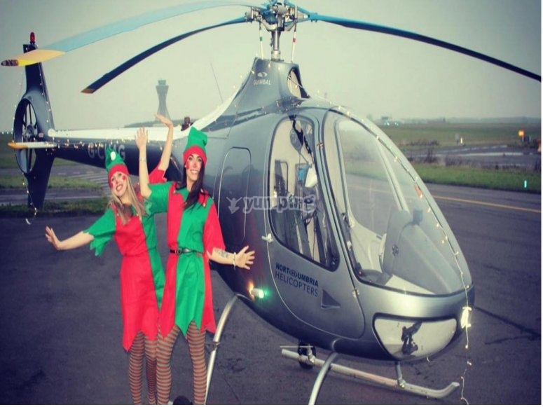 Ride a helicopter during holidays