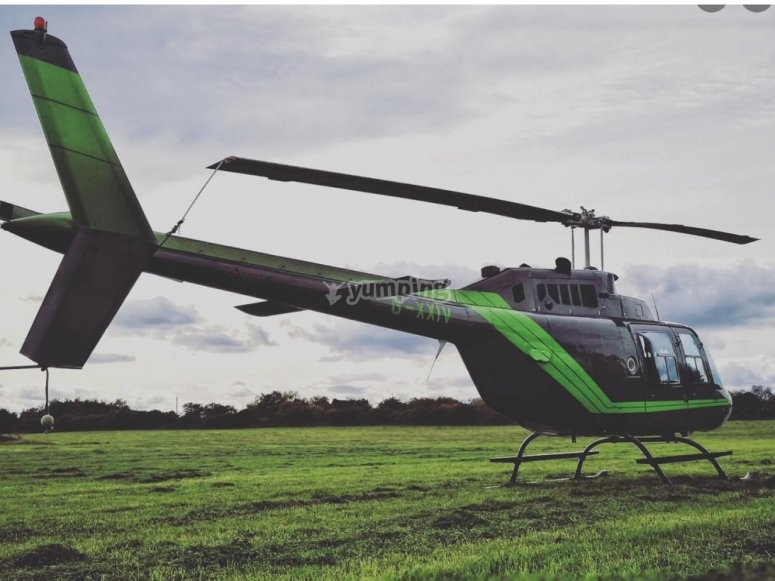 Helicopters in Lancashire