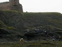 The majestic backdrop for Coasteering