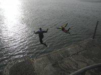 Pier jumping at St Andrews Fife