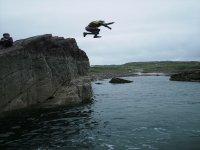 Coasteering leap