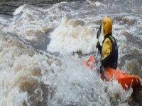 Kayaking River Tay grade 3
