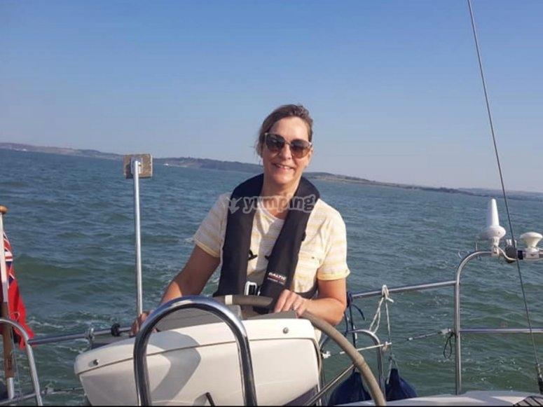 Learning sailing skills