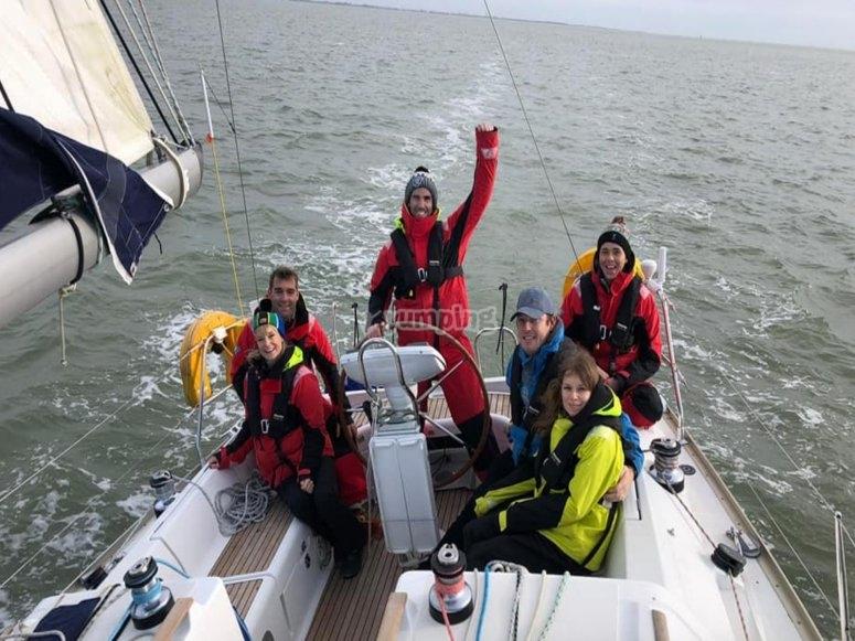 Enjoying the weekend yachting
