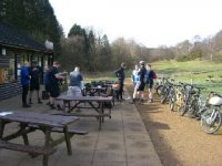 Cafe Stop on Gudied Ride
