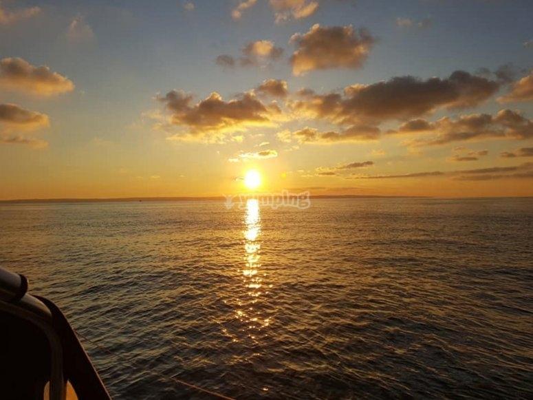 Beautiful views while sailing