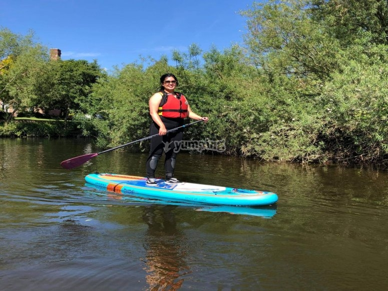 Sup adventures in North Yorkshire