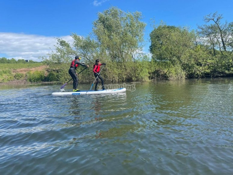 A paddleboarding adventure