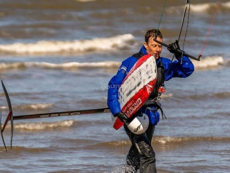 Post kitesurfing lesson