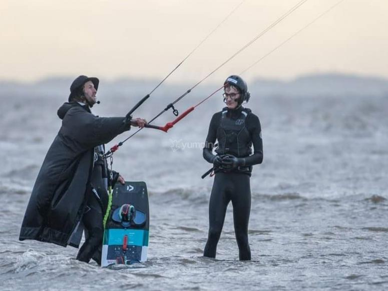 Sharing moments while kitesurfing