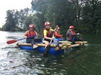 Raft Building Session in Ellerton Lake for 6h
