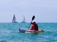 Kayaking on sea in Brighton