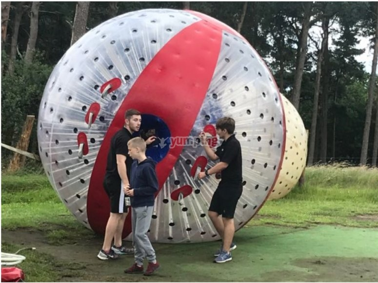 Zorbing experience in Staffordshire