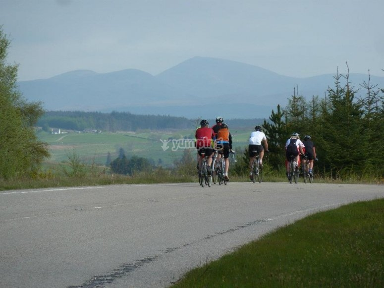 Biking with some friends