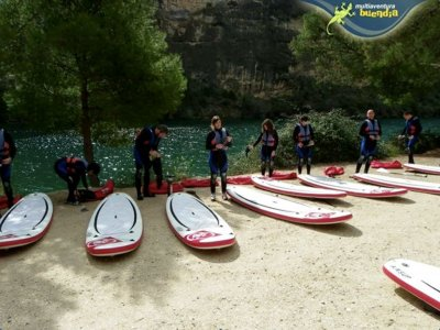 Stand up paddle surfing in Guadiela river
