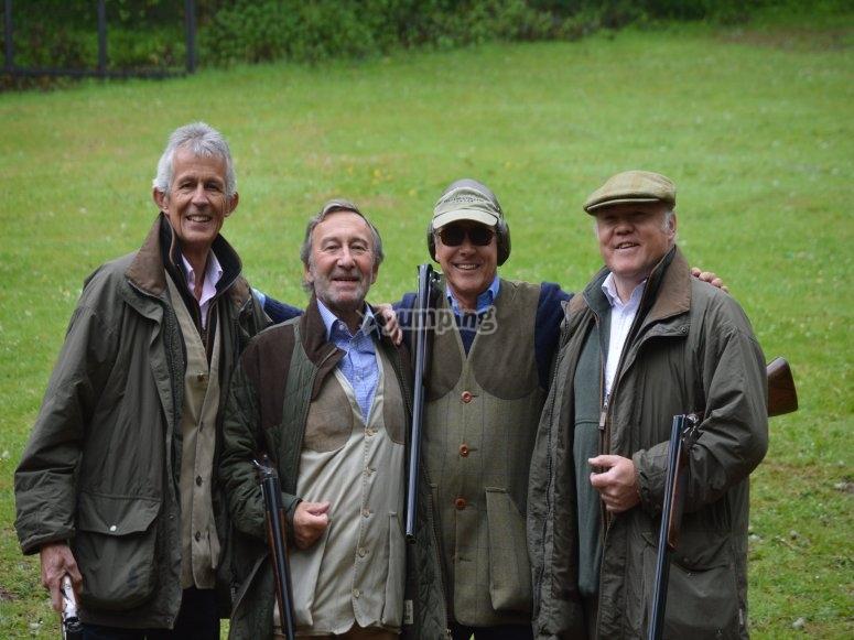 Friends at the firing range