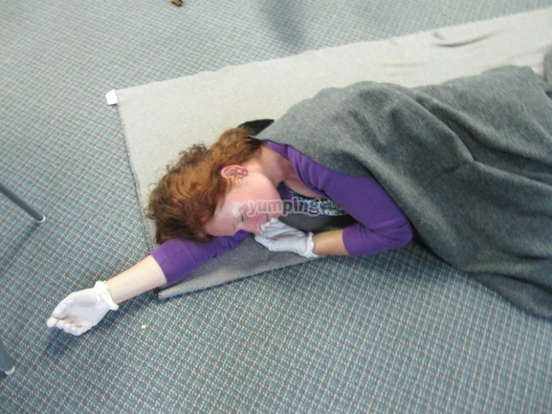 Use the recovery position