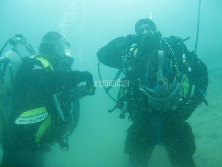 Underwater adjustments