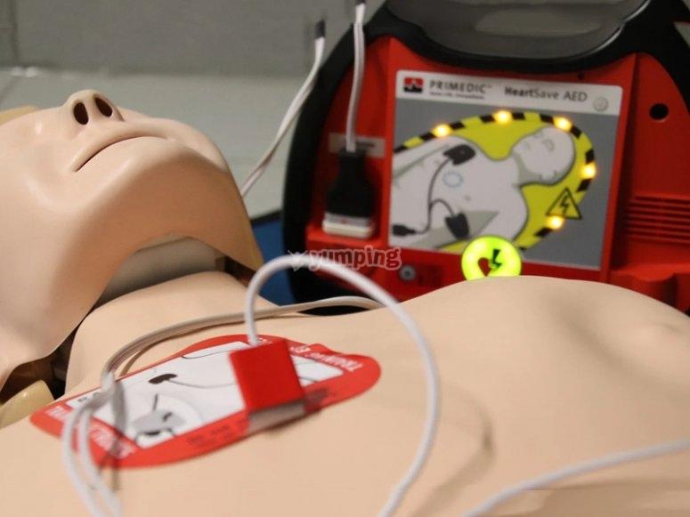 Use emergency equipment