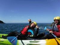 Kids Full-Day Sea Kayaking in North Pembrokeshire