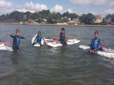 Beginners Windsurfing Lesson for Kids in Poole 4h