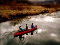 Canoeing is great fun.