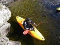 Kayaking is lots of fun.