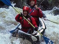 Rafting is a great activity.