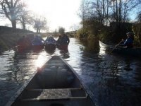 Canoeing in North Yorkshire.