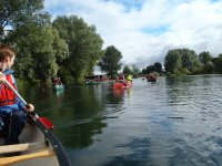 Canoeing with friends and a skillful instructor