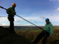 Abseiling in Bedale.