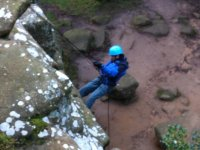 Abseiling in North Yorkshire.