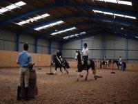 Indoor arena in Poppyfield Equestrian.