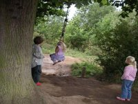 The Adventure Trail has a variety of obstacles to try along the way