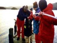 Team work on the lake