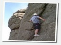 Climbing the natural rock